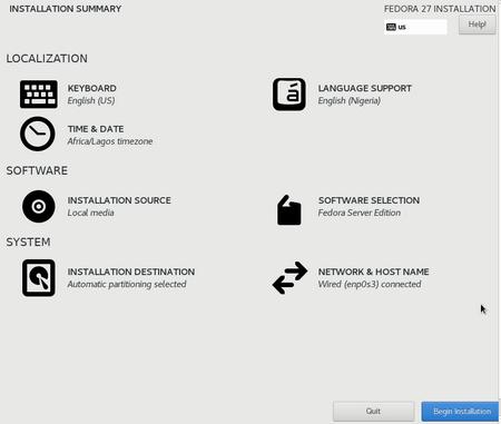 Install-fedora-server0